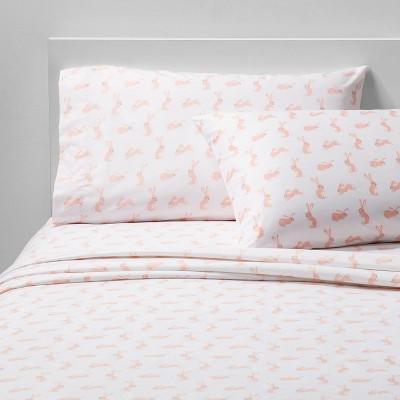 3pc Twin Hare Happy Microfiber Sheet Set Pink - Pillowfort™