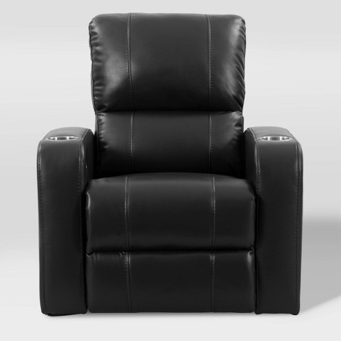 Tucson Home Theater Single Power Recliner with Stainless Steel Cup Holders - Corliving - image 1 of 4