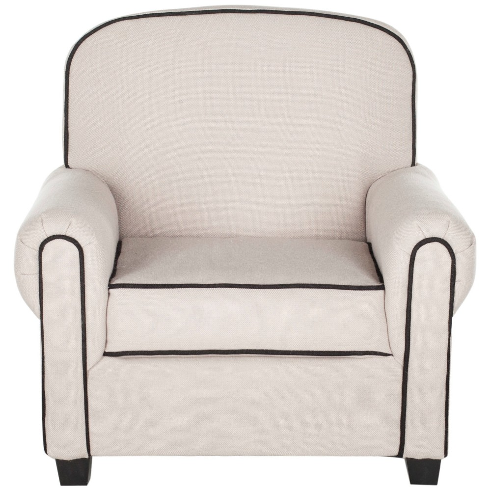 Image of Tiny Tycoon Kids Club Chair Taupe - Safavieh, Brown