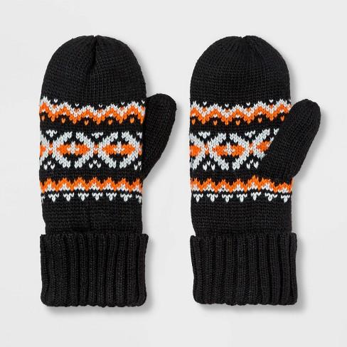 Girls' Gloves - Cat & Jack™ Black One Size - image 1 of 1