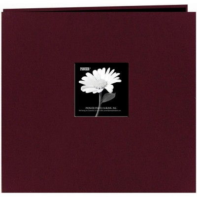 "Pioneer Fabric Frame Post Bound Album 12""X12""-Sweet Plum"