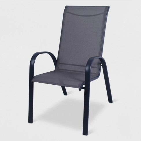 - Stack Sling Patio Chair Gray - Threshold™ : Target
