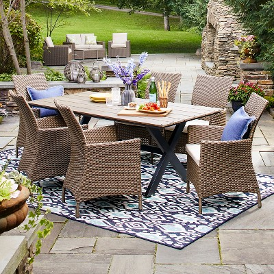 Heatherstone Wicker Patio Furniture Collection - Threshold™ & Heatherstone Wicker Patio Club Chair - Threshold™ : Target