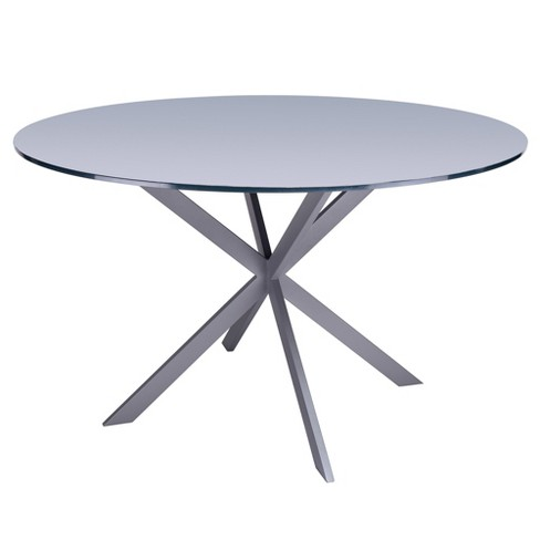 Armen Living Mystere Modern Dining Table Gray - image 1 of 5