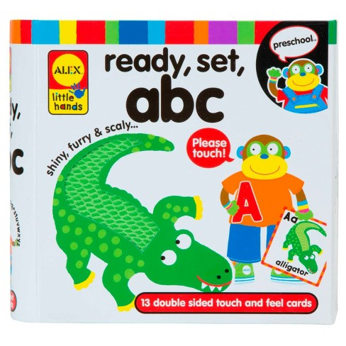 ALEX Toys Little Hands Ready, Set, Touch and Feel Flash Cards, ABC - image 1 of 2