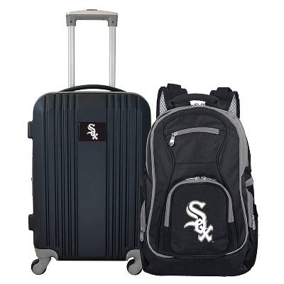 MLB Chicago White Sox 2 Pc Carry On Luggage Set