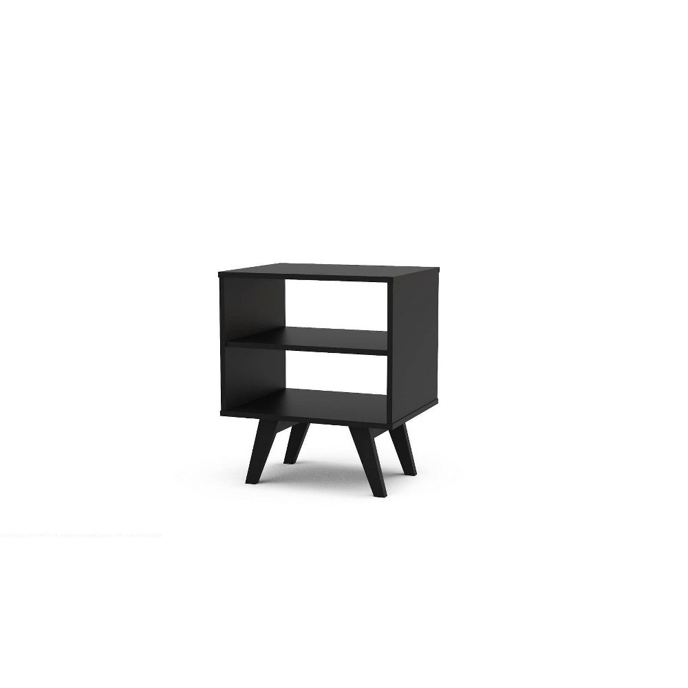 Image of Montreal Side Table with 2 Shelves Black - Chique