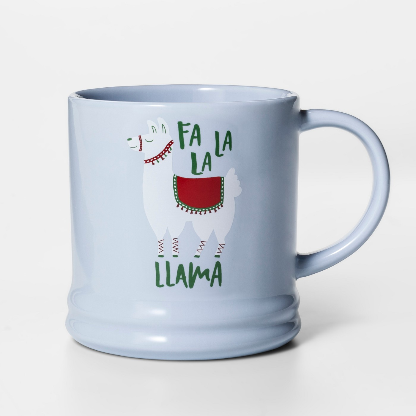 16oz Porcelain Fa La La Llama Mug Blue - Threshold™ - image 1 of 1