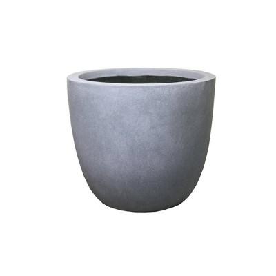 Kante Lightweight Modern Outdoor Concrete Urn Planter Slate Gray - Rosemead Home & Garden, Inc.