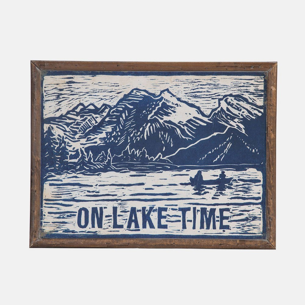 Image of 15 Wood Lake Time Wall Art Blue - Foreside Home & Garden