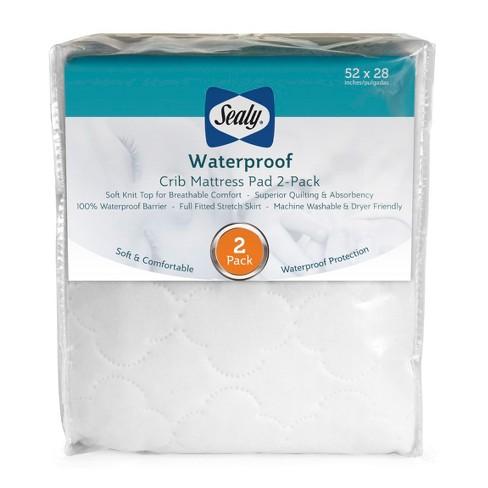 Sealy Waterproof Crib & Toddler Mattress Protector Pads - 2pk - image 1 of 4