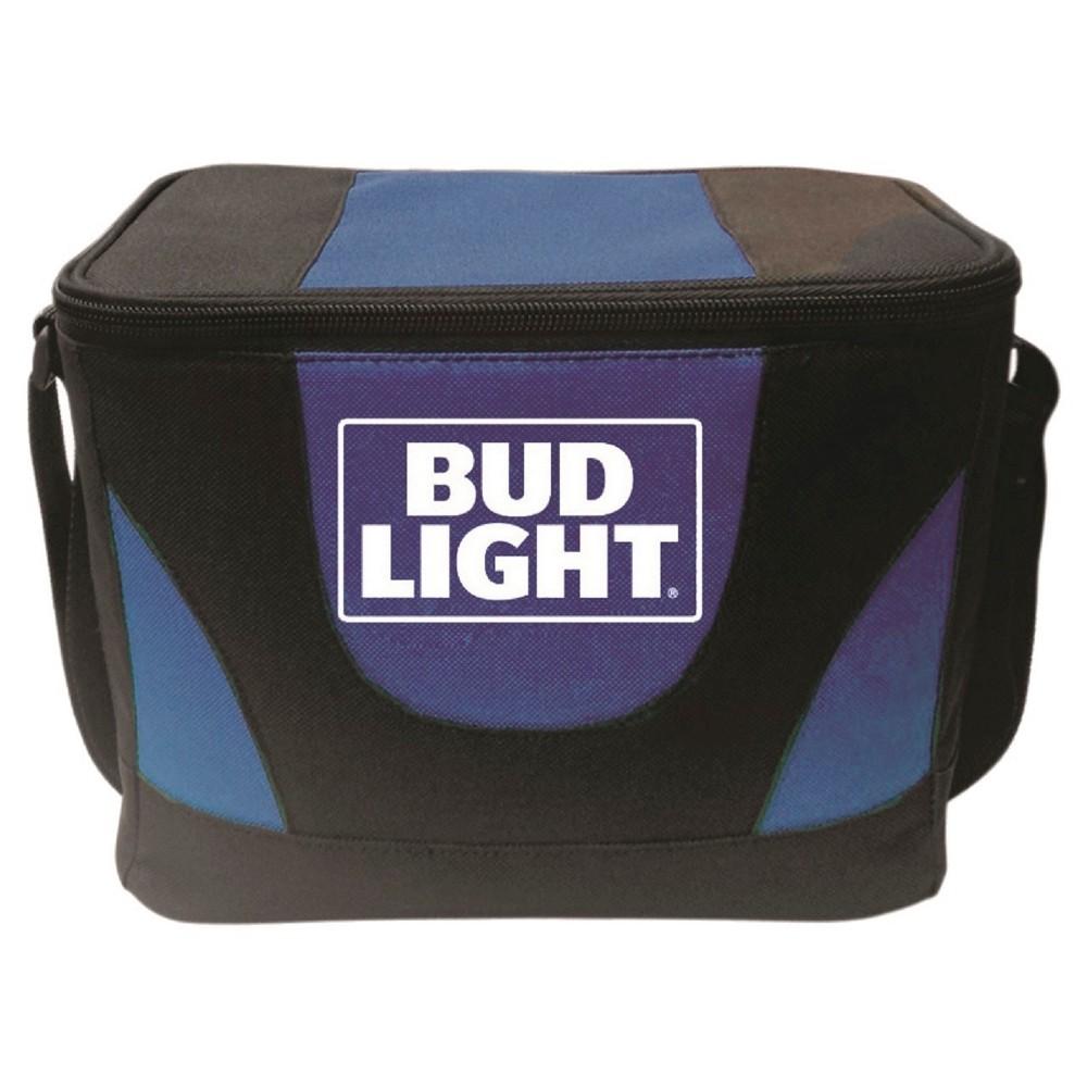 Anheuser-Busch Cooler Bag with Mesh Pocket and Shoulder Strap - Blue (6 Can)