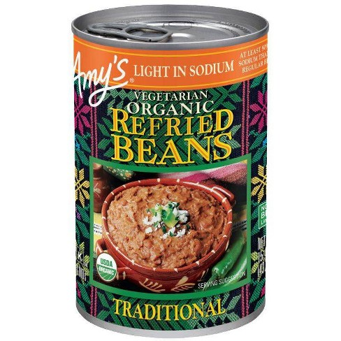 Amy's Vegetarian Organic Light in Sodium Refried Beans - 15.4oz - image 1 of 3