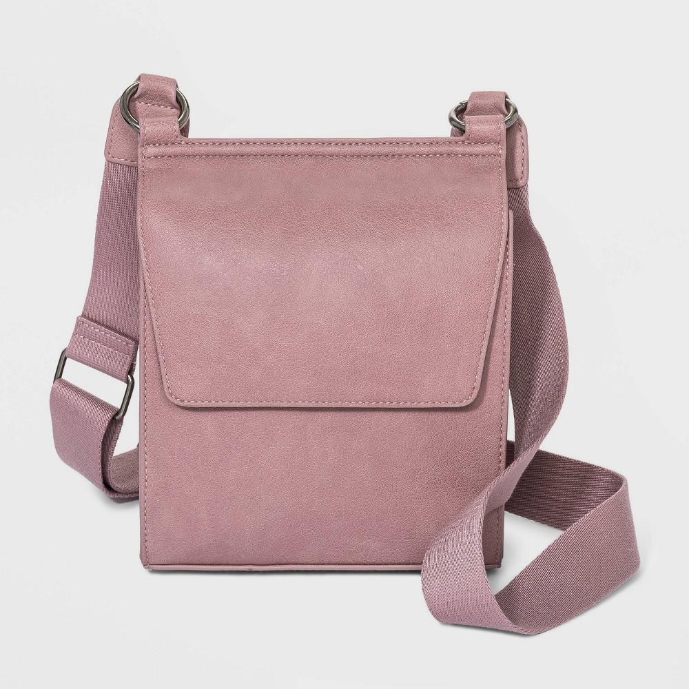 Flap Magnetic Closure Crossbody Bag Universal Thread 8482 Dusty Rose