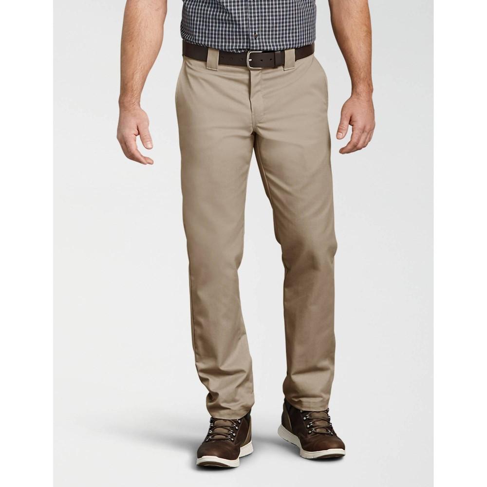 Dickies Men 39 S Flex Slim Fit Tapered Multi Use Pocket Work Pants Desert Sand 34x32