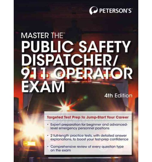 Peterson's Master the Public Safety Dispatcher/911 Operator Exam (Paperback) - image 1 of 1