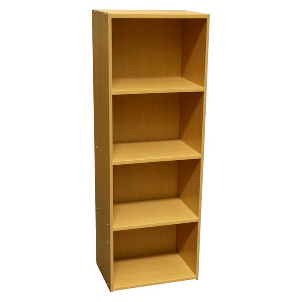 "Image of ""47""""4 Level Bookshelf Tan Wood - Ore International"""