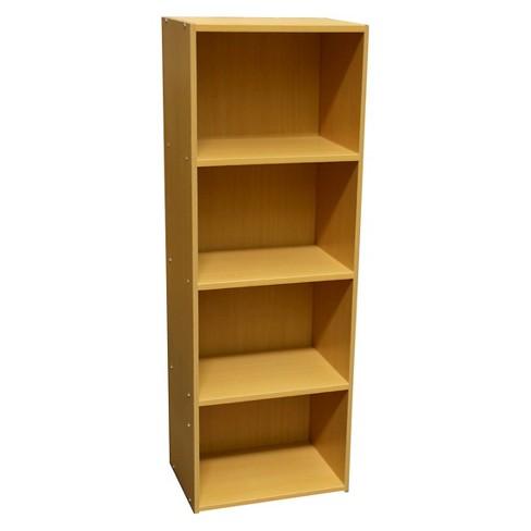 474 Level Bookshelf Tan Wood