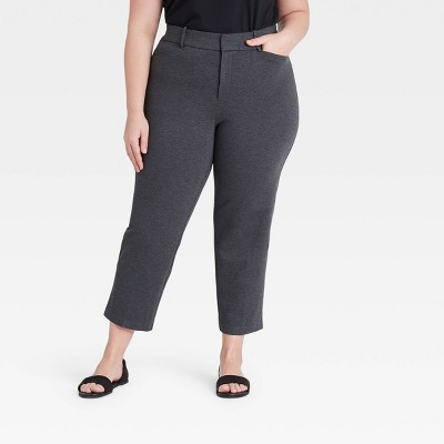 Women's Plus Size Ankle Length Ponte Pants - Ava & Viv™