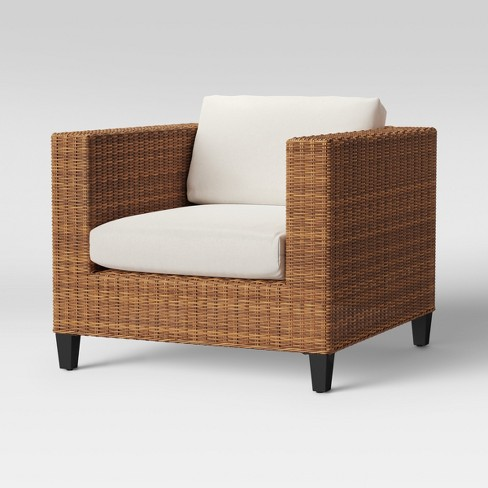 Fullerton Steel Wicker Patio Club Chair With Cushions Threshold
