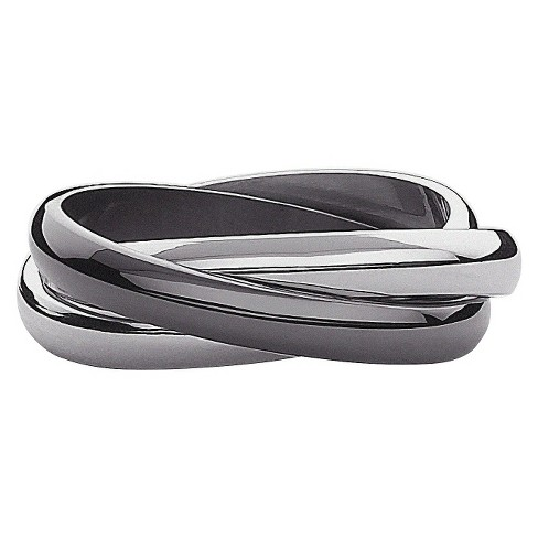 Stainless Steel Interlocking Bands Ring - image 1 of 1