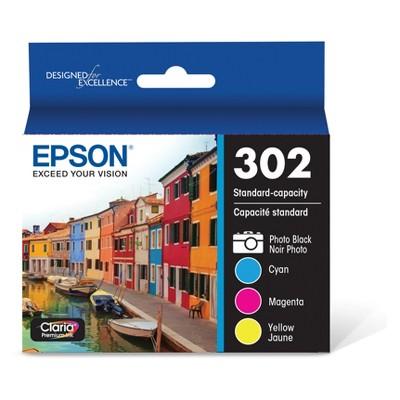 Epson 302 Single or 4pk Ink Cartridges - Black, Cyan, Magenta, Yellow