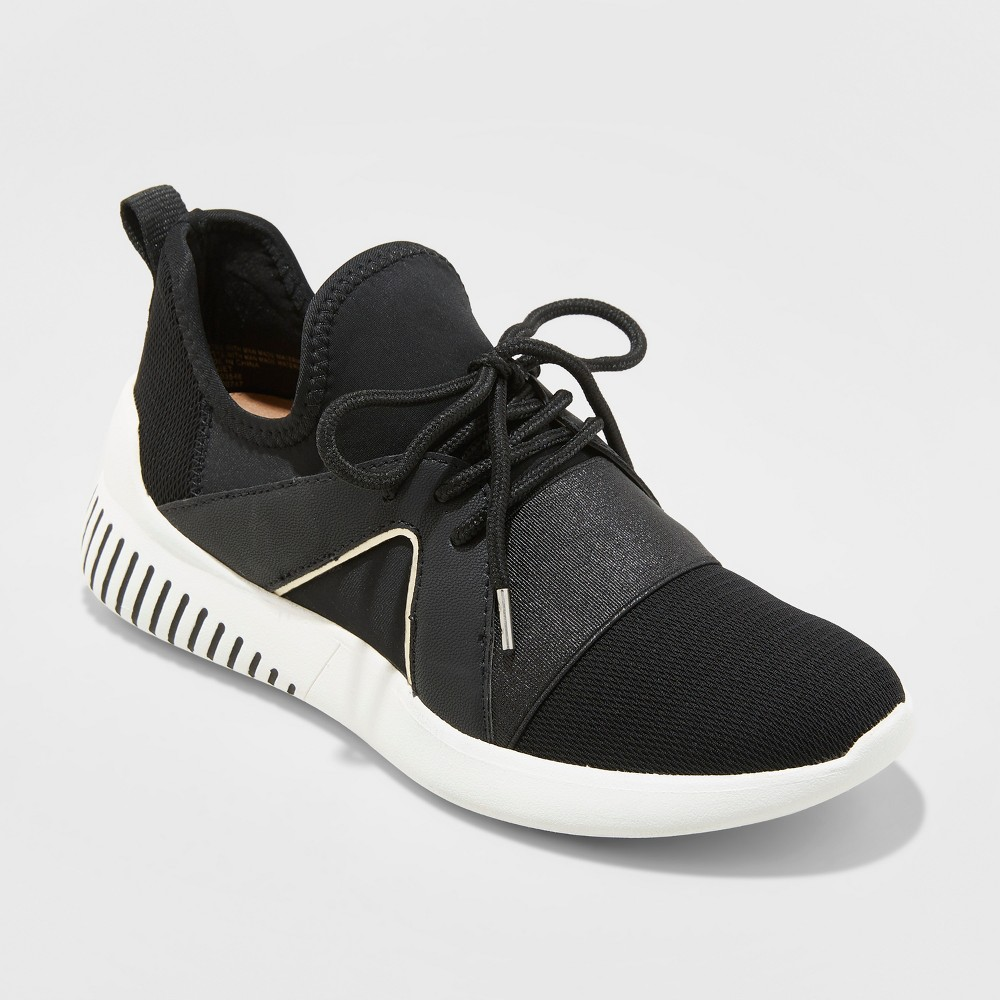 Women's Rhayne Lace Up Sneakers - A New Day Black 11