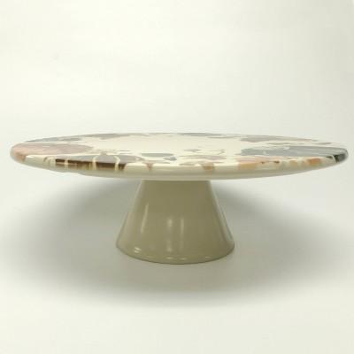 "12"" Stoneware Pumpkin Cake Stand White - Threshold™"