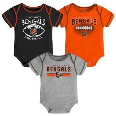 NFL Cincinnati Bengals Baby Boys' Bodysuit Set 3pk