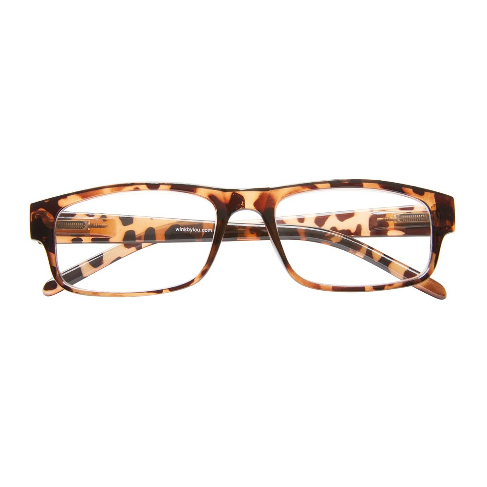 Icu Wink Highland Tortoise Rectangle Reading Glasses +1.25