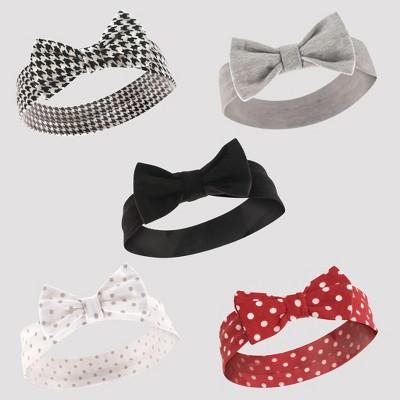 Hudson Baby Girls' 5pk Headband Set - Red 0-12M