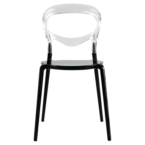 Evo Acrylic Dining Side Dining Chair - Transparent - Fine Mod Imports - image 1 of 4