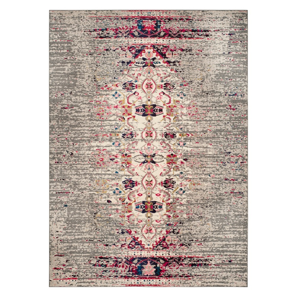 Medallion Area Rug Gray/Ivory