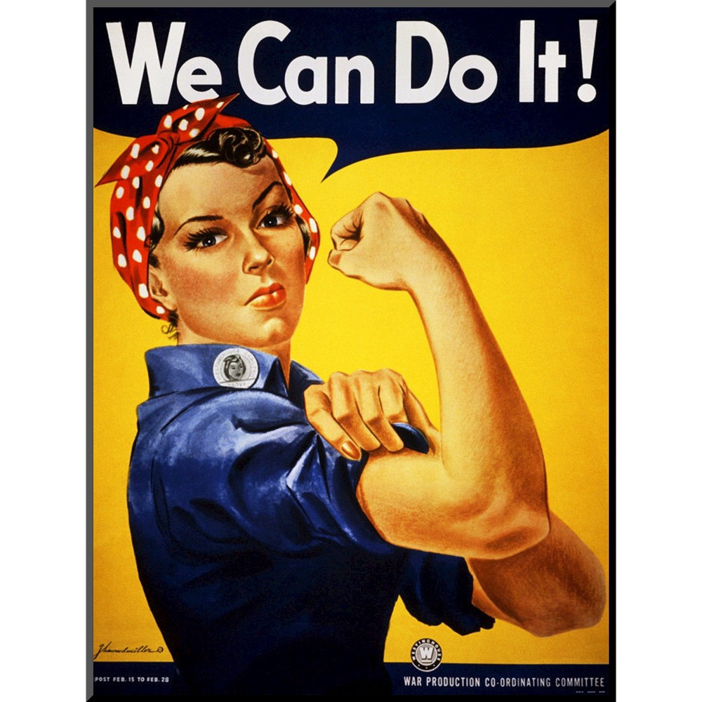 Art.com - We Can Do It! Mounted Print