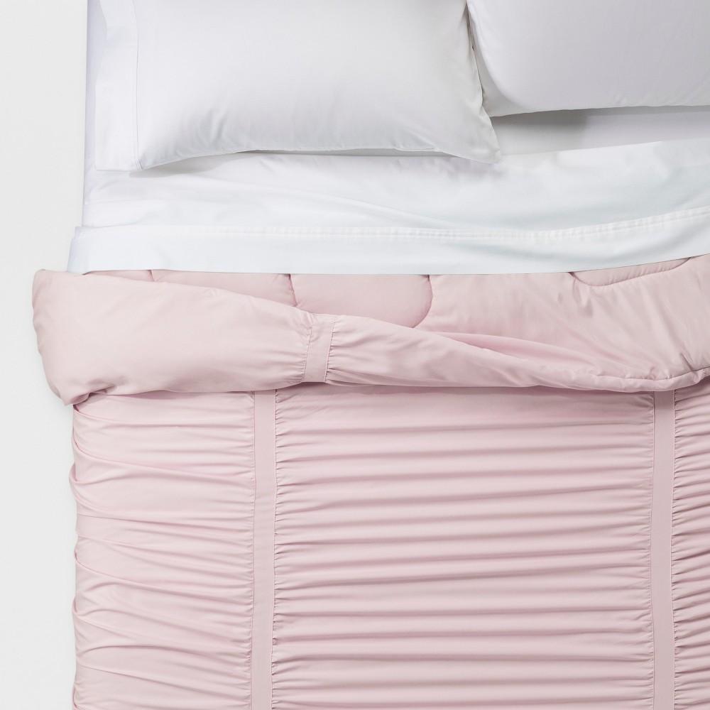 Pink Metal Solid Texture Comforters (Twin/Twin XL) - Room Essentials