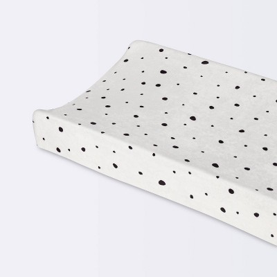 Plush Changing Pad Cover Scatter Dot - Cloud Island™ - Cream/White