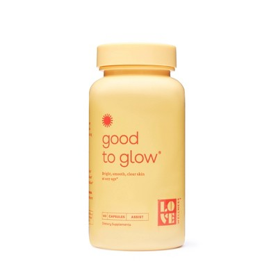 Love Wellness Good to Glow Dietary Supplements - 60ct