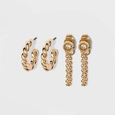 SUGARFIX by BaubleBar Croissant Huggie Hoop Earrings - Gold