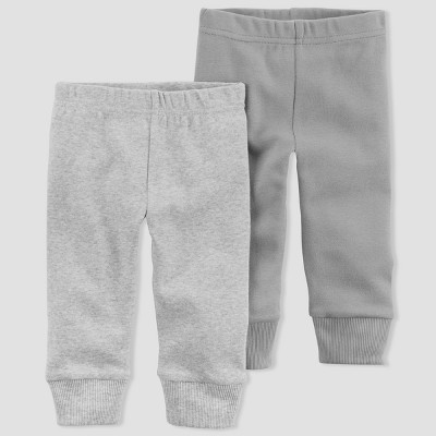 Baby Boys' 2pk Leggings - little planet™ organic by carter's® Gray 12M