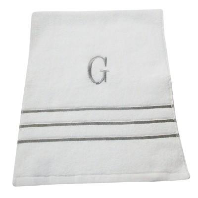 Monogram Hand Towel G - White/Skyline Gray - Fieldcrest®