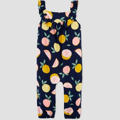 Baby Girls' Grapefruit Jumpsuit - Just One You® made by carter's Navy 6M
