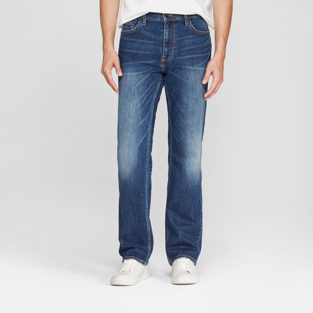 Men's Straight Fit Jeans - Goodfellow & Co Medium Wash 36x32, Blue