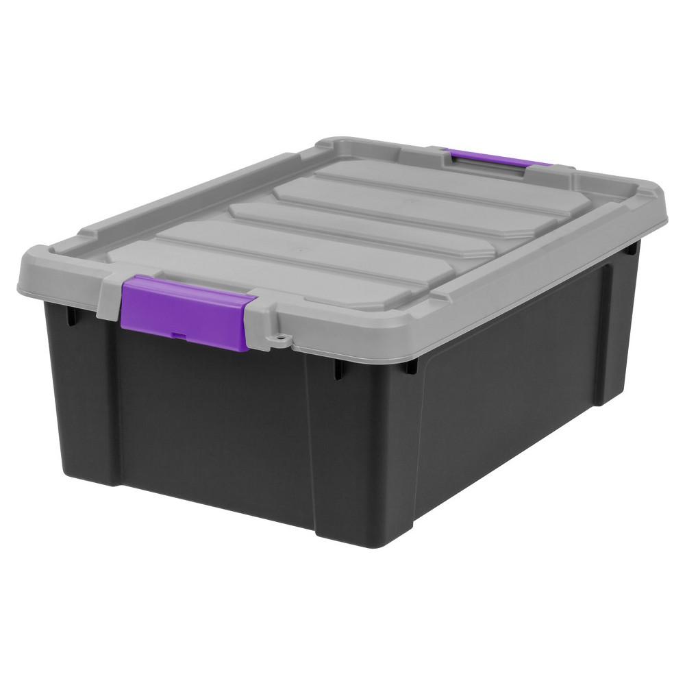 Iris 10 Gal Heavy Duty Plastic Storage Bin - 2pk, Purple