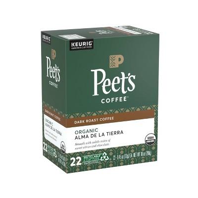 Peet's Alma de la Tierra Dark Roast Coffee - Keurig K-Cup Pods - 22ct