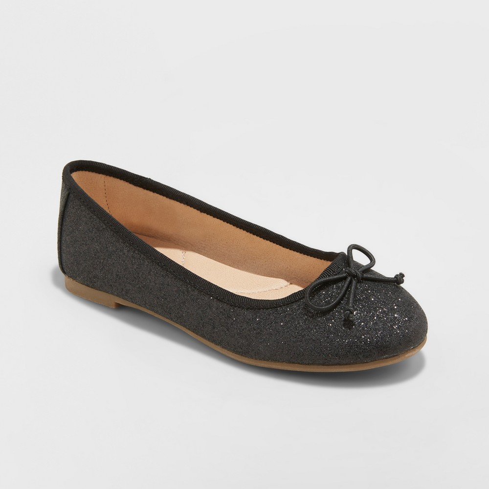 Girls' Chiara Ballet Flats - Cat & Jack Midnight Black 2