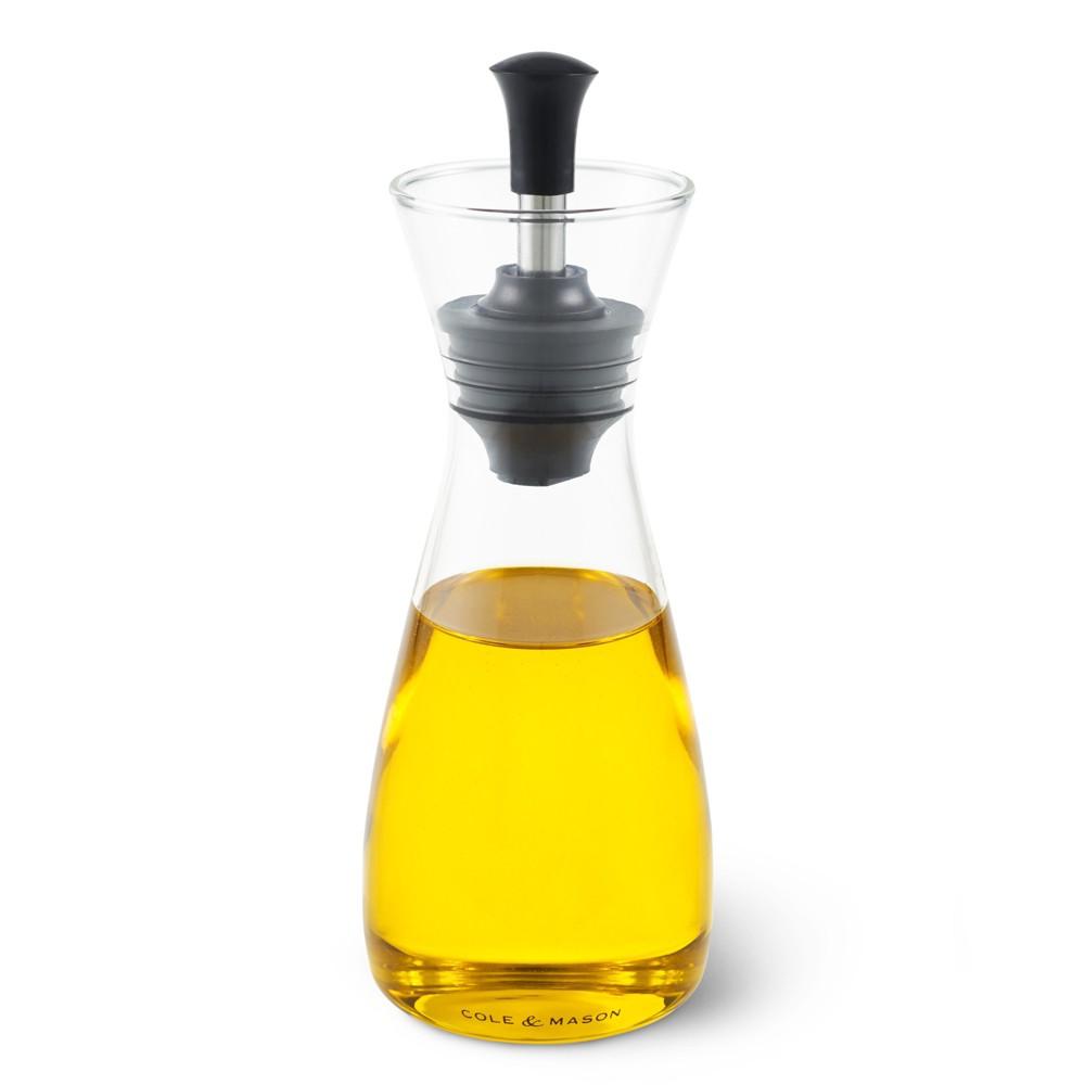 Cole & Mason Classic Oil & Vinegar Pourer Set, Clear