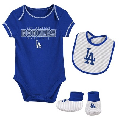 MLB Los Angeles Dodgers Baby Boys' Short Sleeve Layette Set