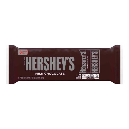 HERSHEY'S Milk Chocolate Candy Bars - 3.6oz/8ct - image 1 of 4