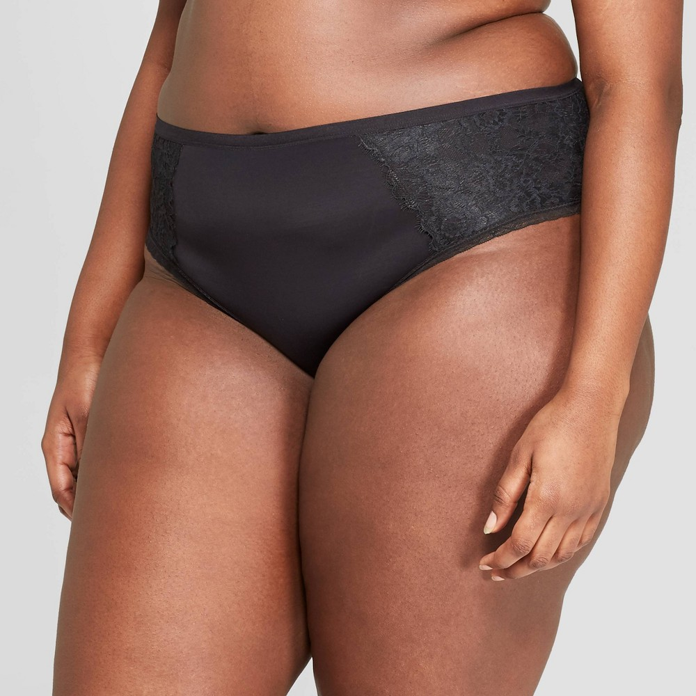 Women's Plus Size Micro Cheeky with Lace - Auden Black 1X