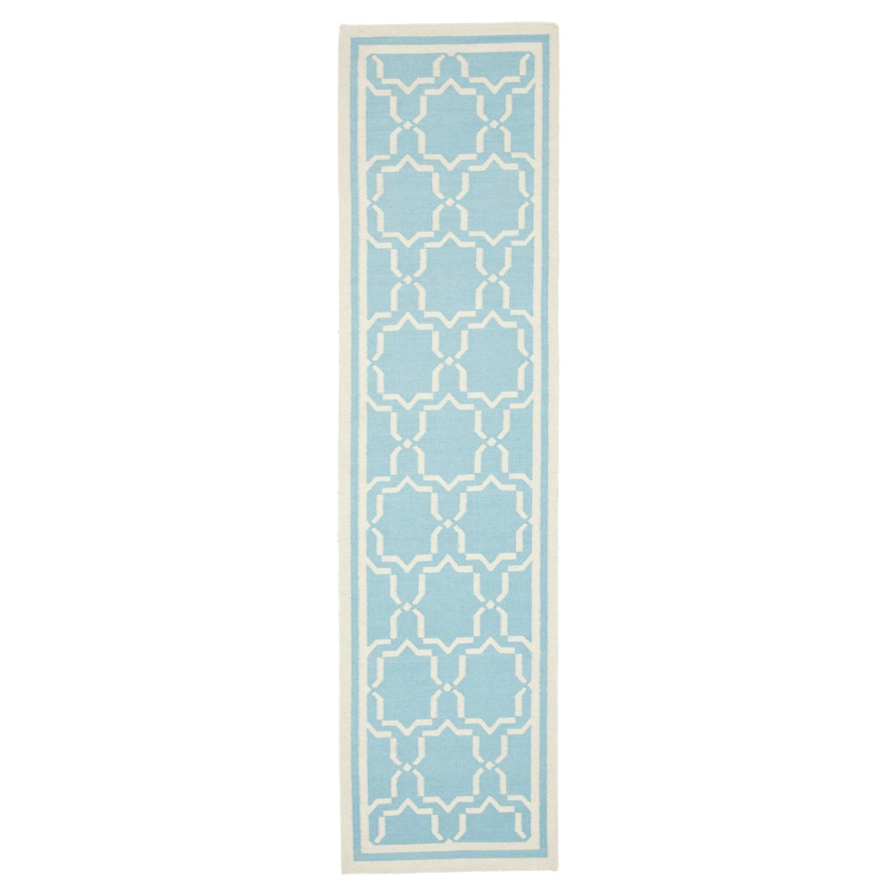 Casablanca Dhurry Rug Light Blue Ivory 2 6 X6 Safavieh